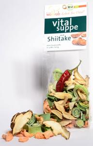 Suppe mit Shiitake und getrocknetem Gemüse