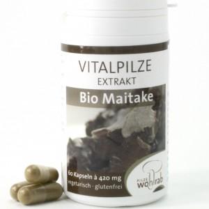 Maitake - Extraktkapseln 60 Stück. Als konzentrierte Form des Pilzpulvers