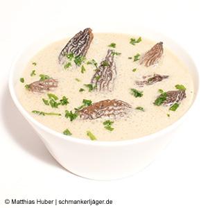 Rahm-Sauce mit feinen Spitzmorcheln von Pilze Wohlrab