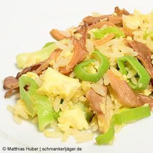 Getrocknete Austernpilze von Pilze Wohlrab mit Reis, Lauch & Ei