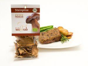 Rindermedaillons Steinpilzkruste mit Packung2_skal