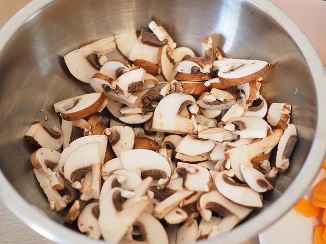 Pilze enthalten viele Ballaststoffe.