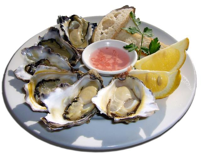 Austern enthalten sehr viel Zink.