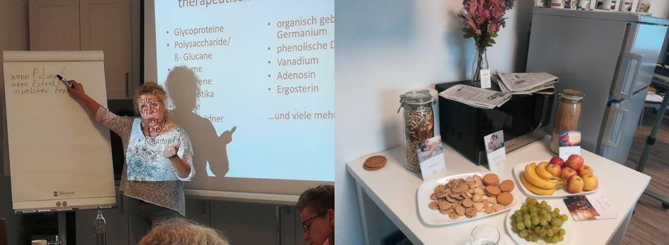 Referentin Doris Richtsteig beim Mykotherapie Seminar in Entrischenbrunn