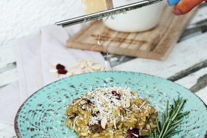 Steinpilzrisotto mit Cranberrys und Mandeln