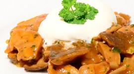 Pilzgulasch von getrockneten Kräuterseitlingen
