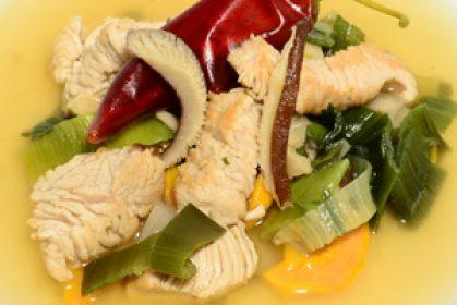 Vitalsuppe mit Shiitake und Hühnerstreifen