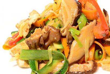 Wokgemüse mit Tofu & asiatischen Pilzen